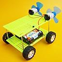 fuerza del viento bricolaje doble ventilador de juguetes de la novedad de coche doble de potencia