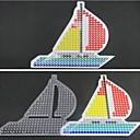 1pcs plantilla patrón claro Perler Beads velero tablero de Hama Beads 5mm fusionan cuentas