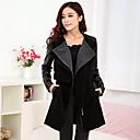 Womens All Match Wineter Fashion Tweed Coat