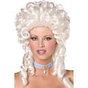 estilo barroco retro rizado largo 40cm blanco Halloween peluca del partido de las mujeres