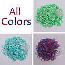 BaoGuang600PCS Rainbow Loom Style Double Color Fashion Loom Rubber Band(1Package S Clip,Assorted Colors)