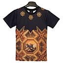 Summer Harajuku Style Animal Religous 3D Print Short Sleeve T Shirt