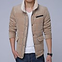 Mens Thicken Stand Collar Cotton Coat