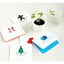 color de la Navidad Conjunto de tarjeta de hueco de 6 (diseño aleatorio)