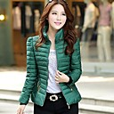 Womens Thicken Down Zipper Cotton Padded Outwear More Colors