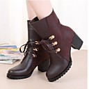 Womens Shoes Sunway deer Fashion Boots Chunky Heel Mid-Calf Boots More Colors available