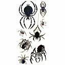 Estilo araña animales 1pc tatuaje impermeable molde muestra pegatina tatuajes temporales de arte corporal (18.5cm  8.5cm)