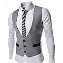 YZY Men's Blazer Fabric Waistcoat