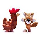 2pcs el astuto zorro y la pequeña historia gallina roja marionetas de dedo de peluche niños hablan prop