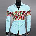 camisas de manga larga de impresión floral de los hombres del reino