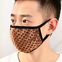 Mens Warm Big Grid Cotton Face Masks(Random Color)