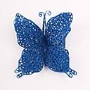8 cm en forma de mariposa de simulación adorno de navidad colgante (color al azar)