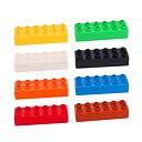 100 piezas 2x4 construcción lego plástico ladrillos bloques juguetes educativos