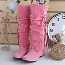 Loubo Womens Flat Heel Mid-Calf Slouch Boots
