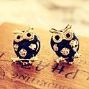 Leo heartWomens Cut Out Diamonade Owl Elegant Earrings