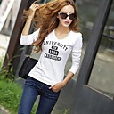 Womens Large Size Bottoming Printing T-Shirt