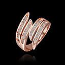 soleado anillo de cristal elegante