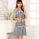 Fashion High-Grade Cooking  Stripe Apron with Pocket, Canvas 31.5×24.4