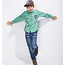 Doolley Boys Fashion Solid Color Long Sleeve Shirts