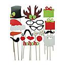 17 PC la tarjeta de papel de fotos props stand christamas favor de la diversión (gafasamp;sombreroamp;bigoteamp;sombrero)