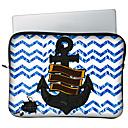 Huado 1315H65881 Bohemian Stripe And Anchor Pattern Laptop Case
