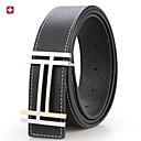 correa de cuero de tendencia de la moda cinturón de hebilla de correa de cuero suave de los hombres swissgear