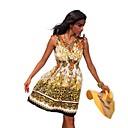 Club Girl Women Halter Bohemian Printed Dress Beach Dress Summer Casual Dress 4152