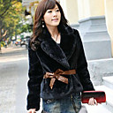 All Match Thermal Fur Long Sleeve Coat(With Belt)