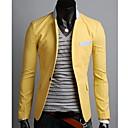 Mens Lapel Contrast Color Casual Blazer Coat