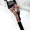 Womens Pearl Velvet Snow Deer Warm Fashion Not Inverted Velvet Leggings