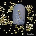 100pcs 3d media redonda de metal de oro decoración del arte del clavo del remache