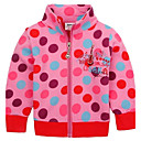 Girls Coats Without Hooded Overall Polka Dots Printed Fashion Girls Winter Clothing Long Sleeve Antumn Kids Coats