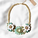 Leo heartWomens Sweet Exaggerate Flower Elegant Necklace