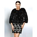 Fur Coat Long Sleeve Collarless Raccoon Fur Party/Casual Jacket(More Colors)
