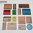 15 piecs bricolaje de papel del libro de recuerdos pegatinas sellos del vintage álbum viajan una forma