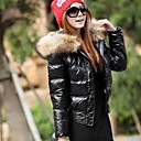 Womens  Fur Collar  Feather Coat (More Colors)