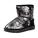 damp;botas de los zapatos de la nieve de las mujeres Y botas bajas de tobillo con tacón de impresión