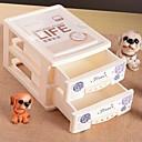 1 piezas de plástico impreso dos capas gabinetes de almacenamiento de escritorio (entrega al azar)