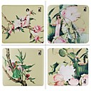 4pcs-hitang-damask-tribute-peach-skin-personalized-mouse-pad-beauty-flower-series