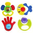 4pcs coloridos de los niños multi-forma de campana juguetes bebé anillo
