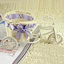 1pcs blanco canasta de almacenamiento de bicicletas ratán natural de encaje (entrega al azar)