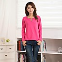 Womens Deep V Collar Fleece Thick Fashion Basic Stretchy T Shirt(More Colors)
