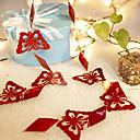 0.8inch adorno de navidad mariposa roja, pvc