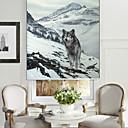 abstracto lobo estilo de pintura al óleo en la nieve persiana