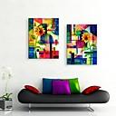 arte de la lona estirada acuarela girasol pintura decoración abstracta conjunto de 2