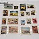 18 piecs libro de recuerdos diy pegatinas sellos de papel de la vendimia álbum viajan en forma de C