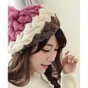 Womens Fashion Joker Contrast Colorl Twist Knitting Warm Hat