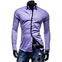 GMIG Men's Long Sleeve Slim Causual Simple Shirts