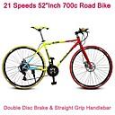 """52 """"bicicleta carretera pulgadas 700c Rockefeller ™ montaba en bicicleta de 21 velocidades v freno de 70 radios rueda pinchada agarre del manillar"""