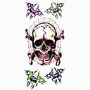 1pc cráneo araña tatuaje impermeable molde muestra pegatina tatuajes temporales de arte corporal (18.5cm  8.5cm)
